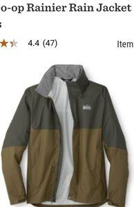 Rei Rainier rain jacket size large